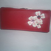 Сумки и аксессуары handmade. Livemaster - original item Womens red purse Flower. Handmade.