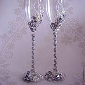 """Свадебный салон ручной работы. Ярмарка Мастеров - ручная работа Свадебные бокалы """" Долче Вита """". Handmade."""