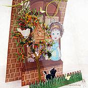 Открытки ручной работы. Ярмарка Мастеров - ручная работа Открытка «Маленькие радости и чудеса каждый день!». Handmade.