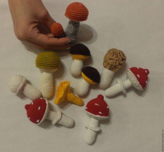 Еда ручной работы. Ярмарка Мастеров - ручная работа. Купить вязаные грибочки развивающие игрушки ФРУКТЫ ОВОЩИ. Handmade. Комбинированный