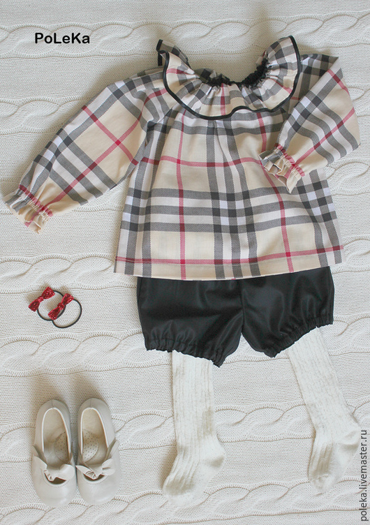 Одежда для девочек, ручной работы. Ярмарка Мастеров - ручная работа. Купить Комплект для девочки из хлопка (туника и шорты). Handmade. Разноцветный