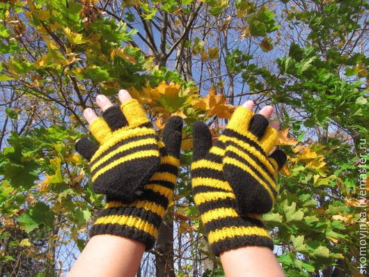 митенки, перчатки, осенние перчатки, митенки с крышечкой митенки женские