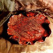 Посуда handmade. Livemaster - original item Small ceramic dish Red fern.. Handmade.