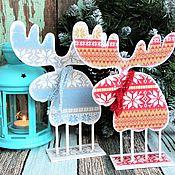 Подарки к праздникам ручной работы. Ярмарка Мастеров - ручная работа Лось Рождественский интерьерный. Handmade.