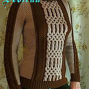 Одежда ручной работы. Ярмарка Мастеров - ручная работа Свитер с цветными аранами. Handmade.