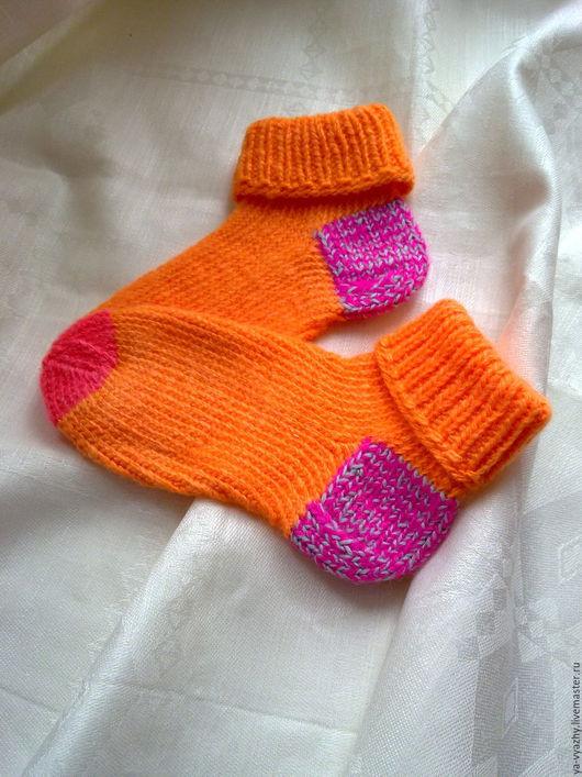Носки, Чулки ручной работы. Ярмарка Мастеров - ручная работа. Купить ВАРЕЖКИ-НОСОЧКИ. Handmade. Ярко-зелёный, носки вязаные