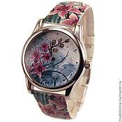 Украшения ручной работы. Ярмарка Мастеров - ручная работа Дизайнерские наручные часы Орхидея. Handmade.