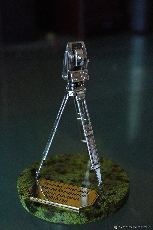 Gift set for surveyor in silver 925, Model, St. Petersburg,  Фото №1