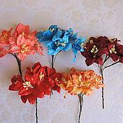 Материалы для творчества ручной работы. Ярмарка Мастеров - ручная работа 6 цветов Лилии для скрапбукинга ч.3. Handmade.