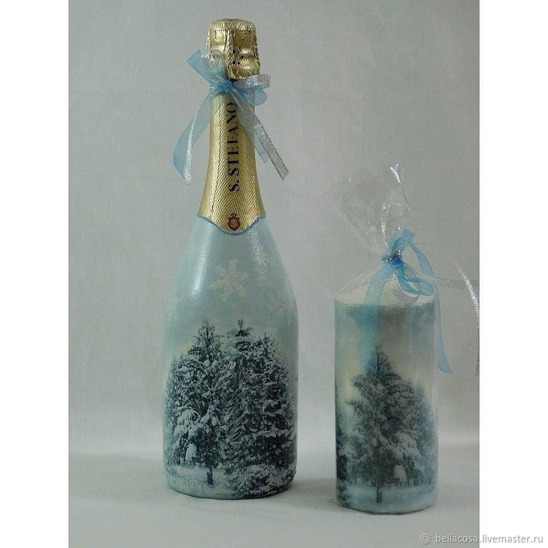 декупаж новогодних бутылок шампанского фото раньше