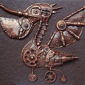 """Картины и панно ручной работы. Ярмарка Мастеров - ручная работа Стимпанк-панно """"Механический пеликан""""2. Handmade."""