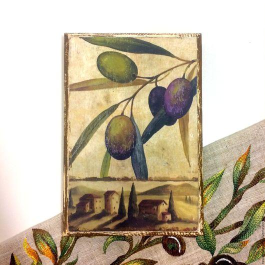 """Картины цветов ручной работы. Ярмарка Мастеров - ручная работа. Купить Панно деревянное """"Оливы"""". Handmade. Оливы, декоративное панно"""
