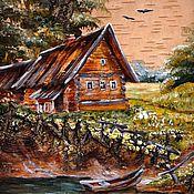 """Картины и панно ручной работы. Ярмарка Мастеров - ручная работа """"Дом, где живёт рыбак"""". Handmade."""