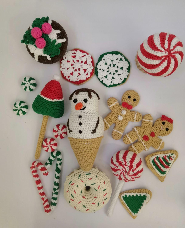 набор вязаные сладости, Кукольная еда, Самара,  Фото №1