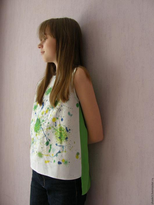 Одежда для девочек, ручной работы. Ярмарка Мастеров - ручная работа. Купить Туника детская. Handmade. Комбинированный, абстрактный, туника