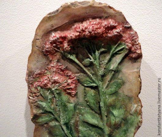 """Картины цветов ручной работы. Ярмарка Мастеров - ручная работа. Купить Гипсовое панно """" Цветы в камне """". Handmade."""