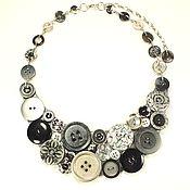 Украшения handmade. Livemaster - original item Button Bed. THE BLACKENED SILVER. Necklace. Handmade.