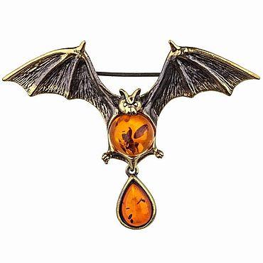 Souvenirs and gifts handmade. Livemaster - original item Bat brooch Halloween decoration. Handmade.