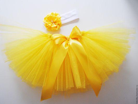Одежда для девочек, ручной работы. Ярмарка Мастеров - ручная работа. Купить Юбка из фатина (ту-ту). Handmade. Желтый