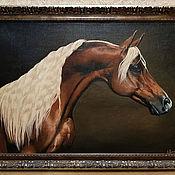 Картины ручной работы. Ярмарка Мастеров - ручная работа Картины: арабский конь. Handmade.