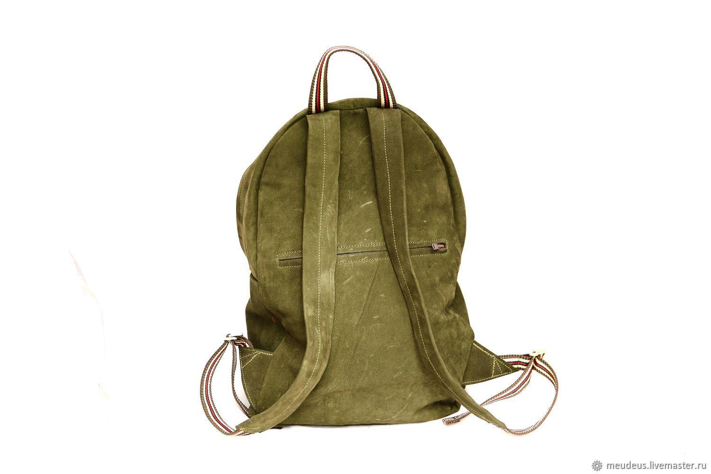 443b7d14f6d5 Рюкзаки ручной работы. Рюкзак 'Берлин' из натуральной кожи болотного  зеленого цвета арт.