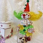 Куклы и игрушки ручной работы. Ярмарка Мастеров - ручная работа Текстильная кукла-клоун Фантик и его верный друг Бантик. Handmade.