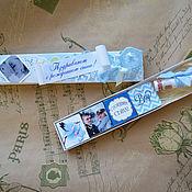 Подарки к праздникам ручной работы. Ярмарка Мастеров - ручная работа коробочка для денег с шоко. Handmade.