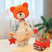 Куклы и игрушки handmade. Livemaster - original item Tiger textile toy. Symbol of the year 2022. Handmade.