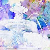 Картины и панно handmade. Livemaster - original item watercolor Cities world ( Fountain). Handmade.