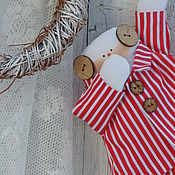 Куклы и игрушки ручной работы. Ярмарка Мастеров - ручная работа Сонный Снеговик в пижамке. Handmade.