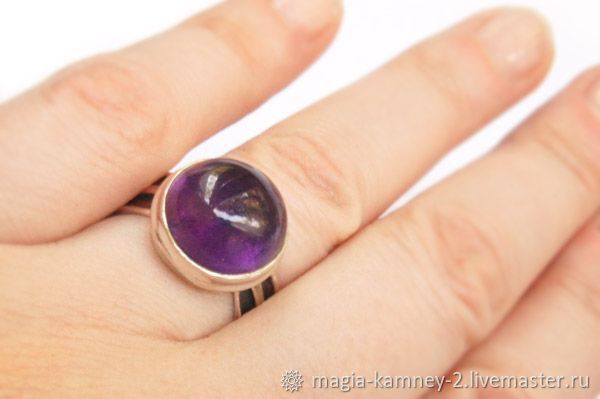 """Кольцо """"Пурпур""""-аметист, Кольца, Клин,  Фото №1"""