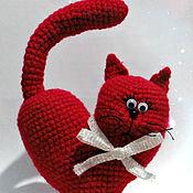 Gifts handmade. Livemaster - original item Heart-Cat. Valentine knitted. Handmade.