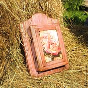 Для дома и интерьера ручной работы. Ярмарка Мастеров - ручная работа Ключница Розы чайные. Handmade.