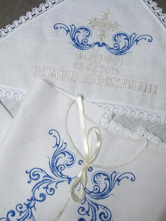 Вышивки на крестильные наборы 3