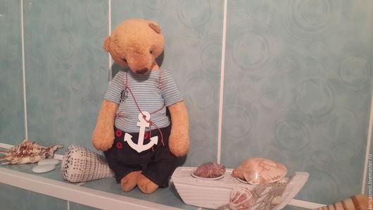 Мишки Тедди ручной работы. Ярмарка Мастеров - ручная работа. Купить Тимошка 27см. Handmade. Оранжевый, мишка ручной работы