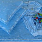 Для дома и интерьера handmade. Livemaster - original item Baby bedding Moon and stars. Handmade.