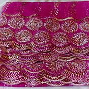 Ткани ручной работы. Ярмарка Мастеров - ручная работа Винтажный индийский палантин с ручной вышивкой №2. Handmade.