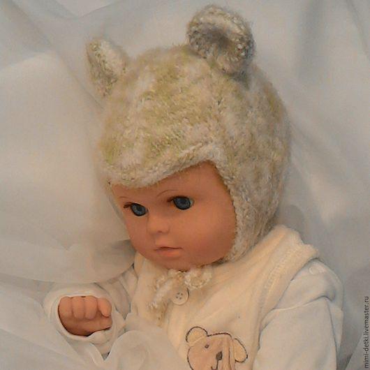 """Для новорожденных, ручной работы. Ярмарка Мастеров - ручная работа. Купить Шапочка детская""""Пушистый Мышонок"""". Handmade. Комбинированный, мышонок"""