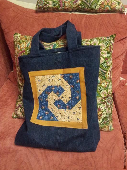 Женские сумки ручной работы. Ярмарка Мастеров - ручная работа. Купить Сумка джинсовая. Handmade. Разноцветный, сумка, сумка женская