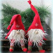 Куклы и игрушки ручной работы. Ярмарка Мастеров - ручная работа Новогодние гномики.. Handmade.