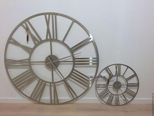"""Часы для дома ручной работы. Ярмарка Мастеров - ручная работа. Купить Большие настенные часы 1 метр из нержавейки """"Rooma-aisi Premium"""". Handmade."""