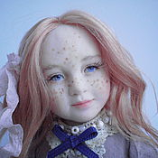 Куклы и игрушки ручной работы. Ярмарка Мастеров - ручная работа Авторская кукла из полимерной глины Анечка. Handmade.