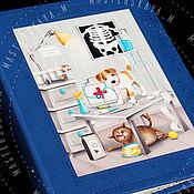 """Канцелярские товары ручной работы. Ярмарка Мастеров - ручная работа Блокнот для записей """"Ветеринарный"""". Handmade."""