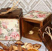 """Для дома и интерьера ручной работы. Ярмарка Мастеров - ручная работа """"Медовые розы"""" Кухонные коробочки. Handmade."""