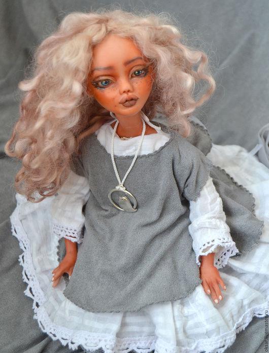 Коллекционные куклы ручной работы. Ярмарка Мастеров - ручная работа. Купить Авторская кукла Желанница в смешанной технике, в красивом платье. Handmade.