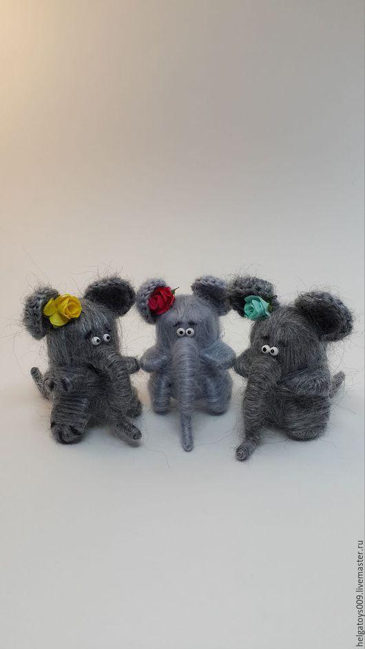 Куклы и игрушки ручной работы. Ярмарка Мастеров - ручная работа. Купить Слон, слоник, слонята, розовый слон. Handmade. Серый