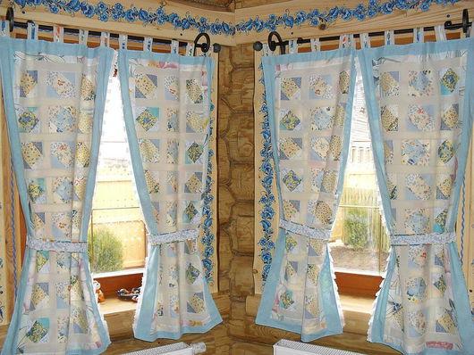 Текстиль, ковры ручной работы. Ярмарка Мастеров - ручная работа. Купить Лоскутные шторы. Handmade. Хлопок