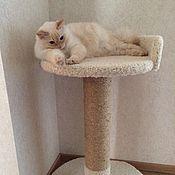 Для домашних животных, ручной работы. Ярмарка Мастеров - ручная работа Цветок - когтеточка подходит крупным кошкам. Handmade.