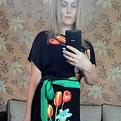 Одежда handmade. Livemaster - original item Dress with a print
