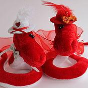 Куклы и игрушки ручной работы. Ярмарка Мастеров - ручная работа Влюбленные... Змейки- Валентинки.... Handmade.